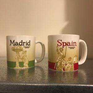 Starbucks Spain and Madrid 3oz mugs